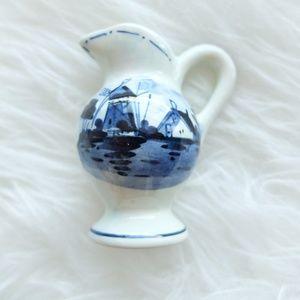 Vintage Delft Miniature Porcelain Pitcher Jug